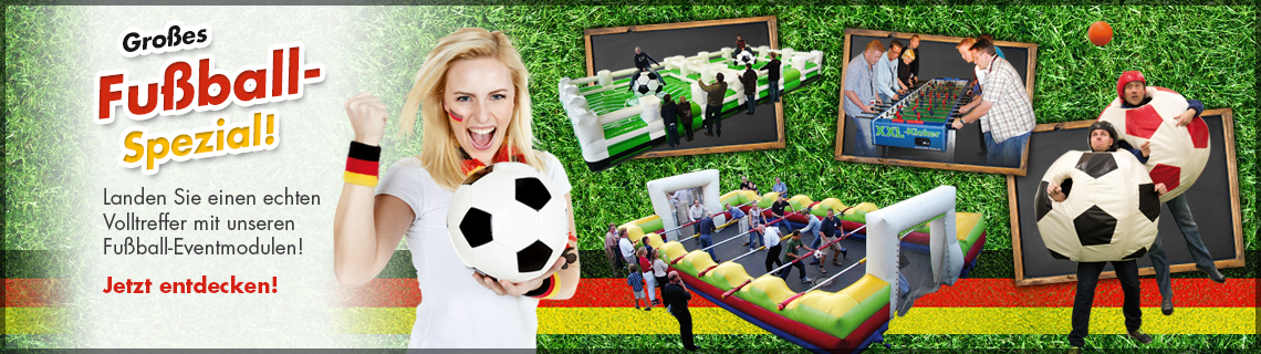 Fussball Eventmodule & Eventattraktionen