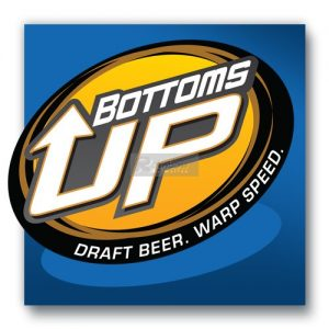 Getränkestand mit Bottoms Up Beer